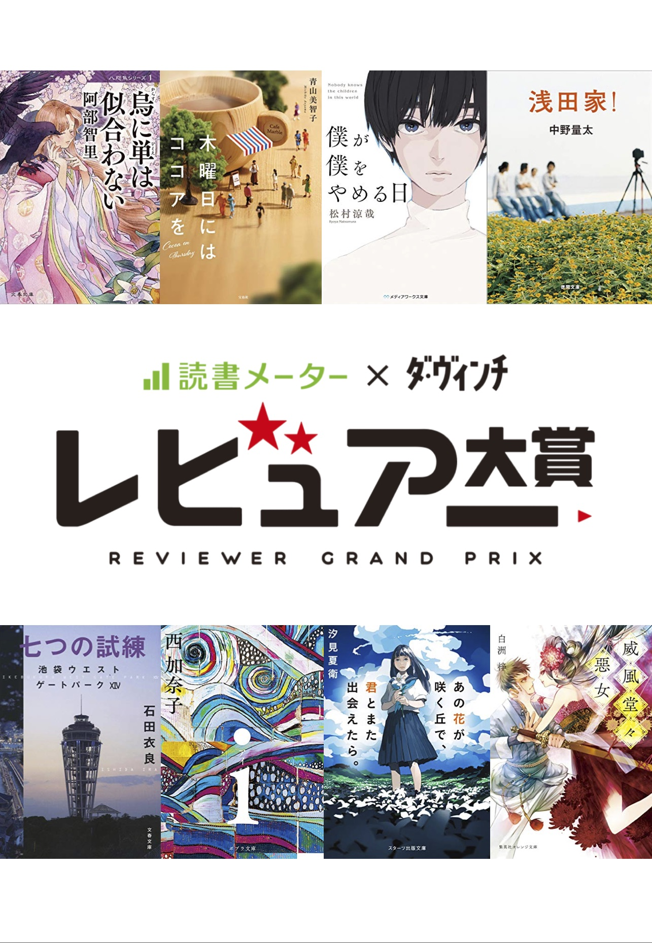 第5回 レビュアー大賞 課題図書8作品セット